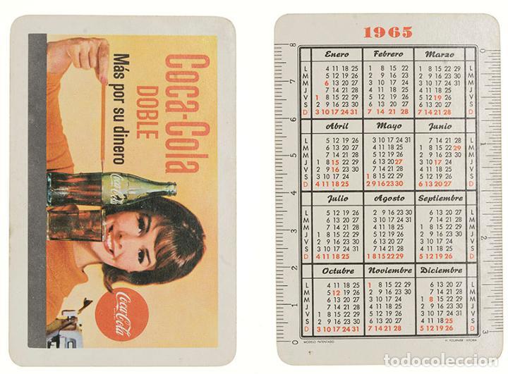 CALENDARIO FOURNIER COCA COLA DOBLE 1965 (Coleccionismo - Calendarios)