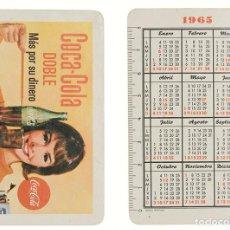 Coleccionismo Calendarios: CALENDARIO FOURNIER COCA COLA DOBLE 1965. Lote 236493170