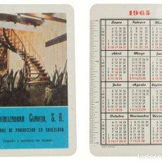 Colecionismo Calendários: CALENDARIO FOURNIER CAPITALIZADORA CLAVIJO 1965. Lote 236493315