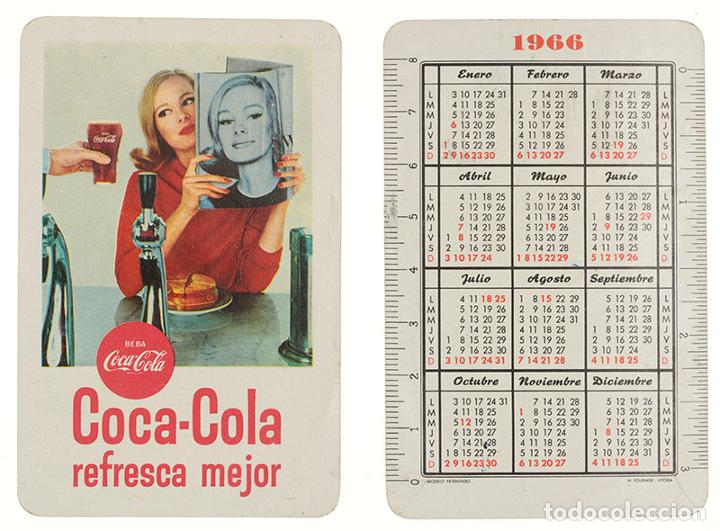 CALENDARIO FOURNIER COCA-COLA 1966 (Coleccionismo - Calendarios)