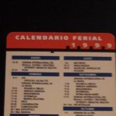 Coleccionismo Calendarios: 1 CALENDARIO DE ** INFOIFEMA CALENDARIO FERIAL ** AÑO 1999. Lote 236769255