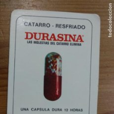 Collectionnisme Calendriers: CALENDARIO PUBLICITARIO. DURASINA. MEDICAMENTOS. FARMACIA. CATARRO. RESFRIADO. AÑO 1977. Lote 237143335