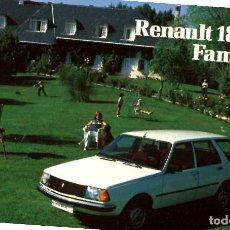 Coleccionismo Calendarios: CALENDARIO DE BOLSILLO H FOURNIER RENAULT 18 GTS FAMILIAR 1981 COCHE. Lote 237752900
