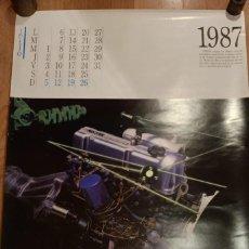 Coleccionismo Calendarios: HOJA CALENDARIO AÑO 1987 JULIO - AGOSTO - NISSAN MOTOR. Lote 237938180