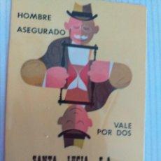 Coleccionismo Calendarios: LOTE DE 3 CALENDARIOS DE SEGUROS SANTA LUCÍA: 1973, 1996, 1999. Lote 238083490