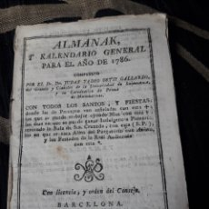 Coleccionismo Calendarios: ALMANAK Y CALENDARIO GENERAL PARA 1786. Lote 238607480
