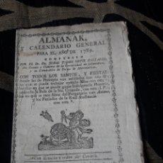 Coleccionismo Calendarios: ALMANAK Y CALENDARIO GENERAL PARA 1789. Lote 238608580