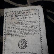 Coleccionismo Calendarios: ALMANAK Y CALENDARIO GENERAL PARA 1791. Lote 238609370