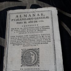 Coleccionismo Calendarios: ALMANAK Y CALENDARIO GENERAL PARA 1794. Lote 238610025