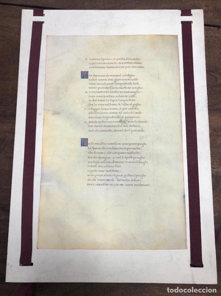 CALENDARIO CODICE SONETOS, CANCIONES Y TRIUNFOS DE FRANCESCO PETRARCA. 1992 (Coleccionismo - Calendarios)