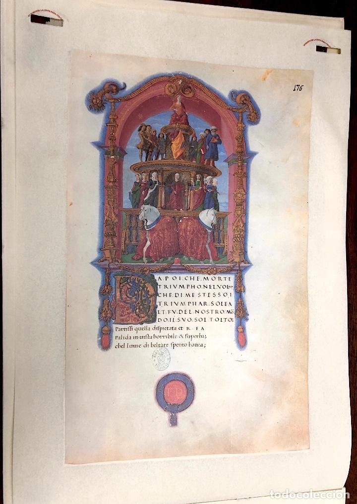 Coleccionismo Calendarios: CALENDARIO CODICE SONETOS, CANCIONES Y TRIUNFOS DE FRANCESCO PETRARCA. 1992 - Foto 3 - 238786535