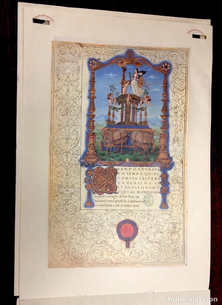 Coleccionismo Calendarios: CALENDARIO CODICE SONETOS, CANCIONES Y TRIUNFOS DE FRANCESCO PETRARCA. 1992 - Foto 5 - 238786535