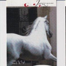 Colecionismo Calendários: CALENDARIO DE PUBLICIDAD DE TURISMO DE JEREZ DEL AÑO 2004 ESP. Lote 240814670