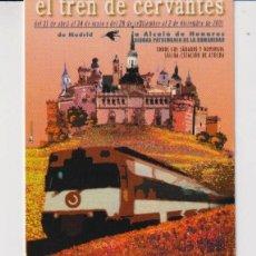 Colecionismo Calendários: CALENDARIO DE PUBLICIDAD DE ALCALÁ DE HENARES TRENES CERCANÍAS DEL AÑO 2002 ESP. Lote 240815985