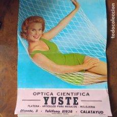 Coleccionismo Calendarios: CALATAYUD CALENDARIO 1963 ÓPTICA YUSTE CALLE DICENTA 5 BELLA SEÑORITA. Lote 242951400