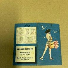 Coleccionismo Calendarios: CALENDARIO DOBLE POR LAS DOS CARAS DE 1959 ALMANAQUE. Lote 243536475