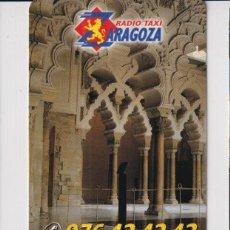 Colecionismo Calendários: CALENDARIO DE PUBLICIDAD DE RADIO TAXIS TABUENCA ZARAGOZA DEL AÑO 2000 EN ESP. Lote 244021570