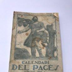 Collectionnisme Calendriers: CALENDARI DEL PAGÈS PERA L'ANY 1921 PUBLICAT PER L'INSTITUT AGRÍCOLA CATALÀ DE SANT ISIDRO. Lote 244581440