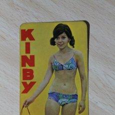 Coleccionismo Calendarios: CALENDARIO DE BOLSILLO. KINBY, ACCESORIOS PARA EL AUTOMOVIL. CHICA. AÑO 1971.. Lote 244705630