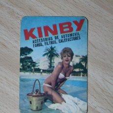 Coleccionismo Calendarios: CALENDARIO DE BOLSILLO. KINBY, ACCESORIOS PARA EL AUTOMOVIL. CHICA. AÑO 1966.. Lote 244705765