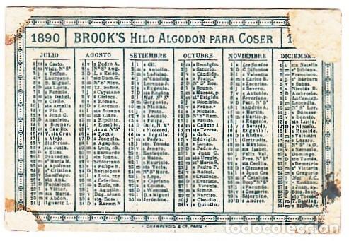 Coleccionismo Calendarios: Curioso calendario semestral. Niñas bailando. Hilo de algodón para coser. 1890 aa - Foto 2 - 245355525