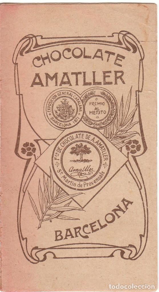 ANTIGUO LIBRITO ALMANAQUE CALENDARIO. CHOCOLATES AMATLLER, BARCELONA 1908 AA (Coleccionismo - Calendarios)