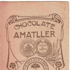 Coleccionismo Calendarios: ANTIGUO LIBRITO ALMANAQUE CALENDARIO. CHOCOLATES AMATLLER, BARCELONA 1908 AA. Lote 245368230