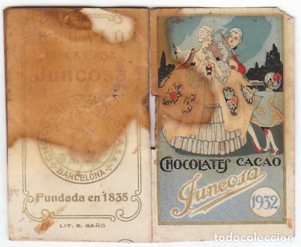 Coleccionismo Calendarios: Antiguo calendario santoral almanaque Cacao chocolates Juncosa, Barcelona 1932 aa - Foto 2 - 245381105