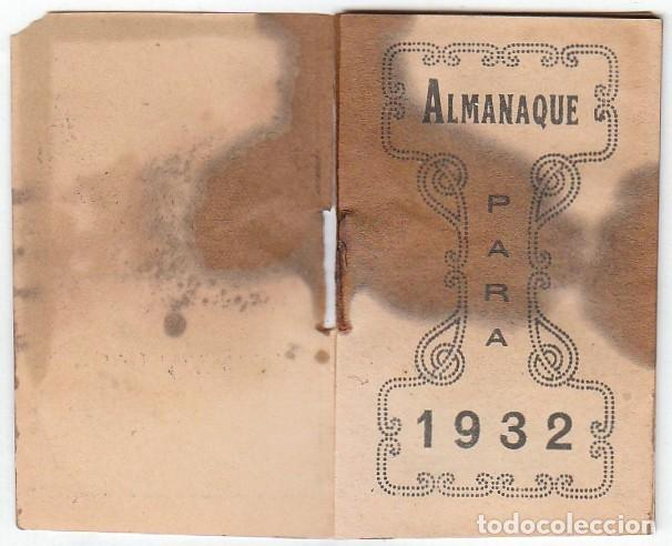 Coleccionismo Calendarios: Antiguo calendario santoral almanaque Cacao chocolates Juncosa, Barcelona 1932 aa - Foto 3 - 245381105