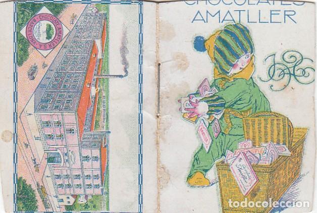 PRECIOSO CALENDARIO SANTORAL ALMANAQUE CACAO CHOCOLATES AMATLLER, BARCELONA 1926 AA (Coleccionismo - Calendarios)