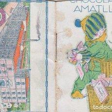 Coleccionismo Calendarios: PRECIOSO CALENDARIO SANTORAL ALMANAQUE CACAO CHOCOLATES AMATLLER, BARCELONA 1926 AA. Lote 245382465