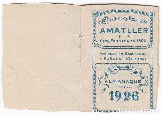 Coleccionismo Calendarios: Precioso calendario santoral almanaque Cacao chocolates Amatller, Barcelona 1926 aa - Foto 3 - 245382465