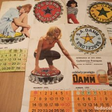 Collezionismo Calendari: CALENDARIO DAMM 1966. Lote 245453515