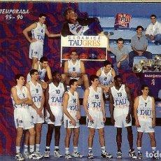 Coleccionismo Calendarios: CALENDARIO FOURNIER - 1996 - TAU BASKONIA - PEPSI. Lote 245931845