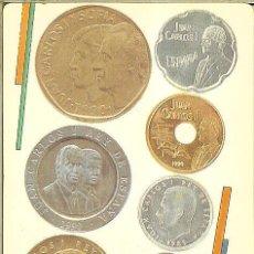 Collezionismo Calendari: CALENDARIO PUBLICITARIO - 1991 - FNMT - LES NOVES MONEDES - 1990 A MIDA NATURAL - CATALÁN. Lote 245974960