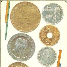 Collezionismo Calendari: CALENDARIO PUBLICITARIO - 1991 - FNMT - LAS NUEVAS MONEDAS - 1990 A TAMAÑO REAL. Lote 245975385