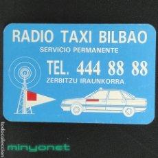 Coleccionismo Calendarios: CALENDARIO DE RÁDIO TAXI BILBAO DE 1996 - DIAUTO PEUGEOT. Lote 246370925