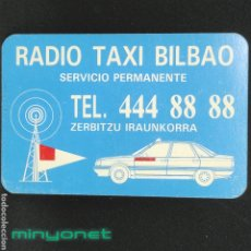 Coleccionismo Calendarios: CALENDARIO DE RÁDIO TAXI BILBAO DE 1996 - GRÚAS OTERO. Lote 246370990