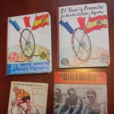 Coleccionismo Calendarios: SUPER LOTE VINTAGE CALENDARIO DINAMICO RETRO TOUR DE FRANCIA CICLISMO CICLISTA LA VUELTA. Lote 246822410