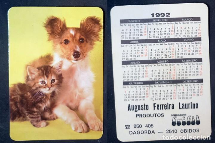FAUNA - CALENDARIO EDITADO EN PORTUGAL - AÑO 1992 (Coleccionismo - Calendarios)