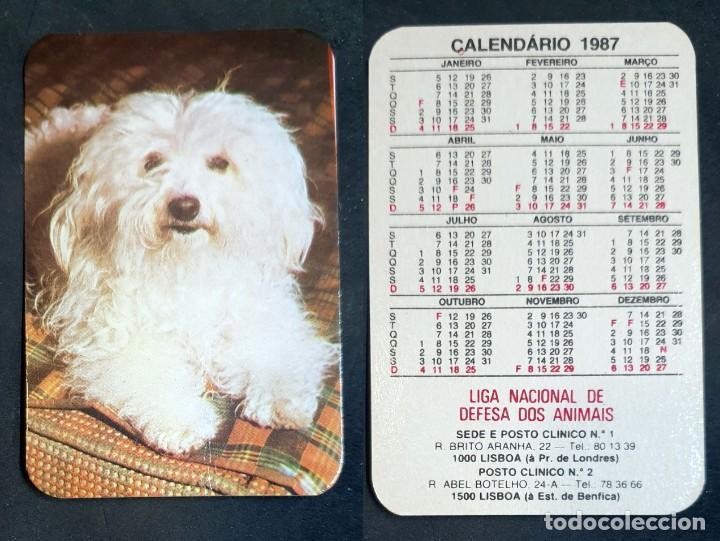 FAUNA - CALENDARIO EDITADO EN PORTUGAL - AÑO 1987 (Coleccionismo - Calendarios)