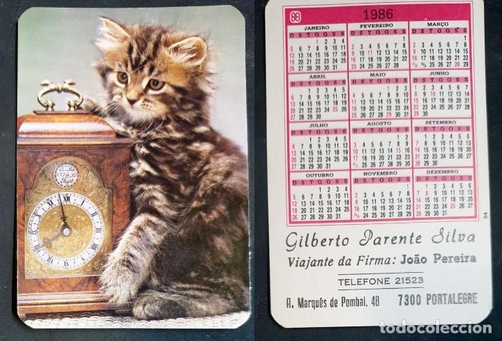 FAUNA - CALENDARIO EDITADO EN PORTUGAL - AÑO 1986 (Coleccionismo - Calendarios)