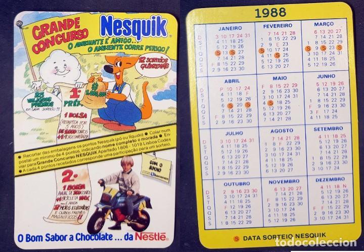 NESQUIK - CALENDARIO EDITADO EN PORTUGAL - AÑO 1988 (Coleccionismo - Calendarios)