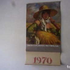 Coleccionismo Calendarios: ALMANAQUE DE PARED 80 CM,MUY BUEN ESTADO AÑO 1970 EXPLOSIVOS RIO TINTO. Lote 253453685