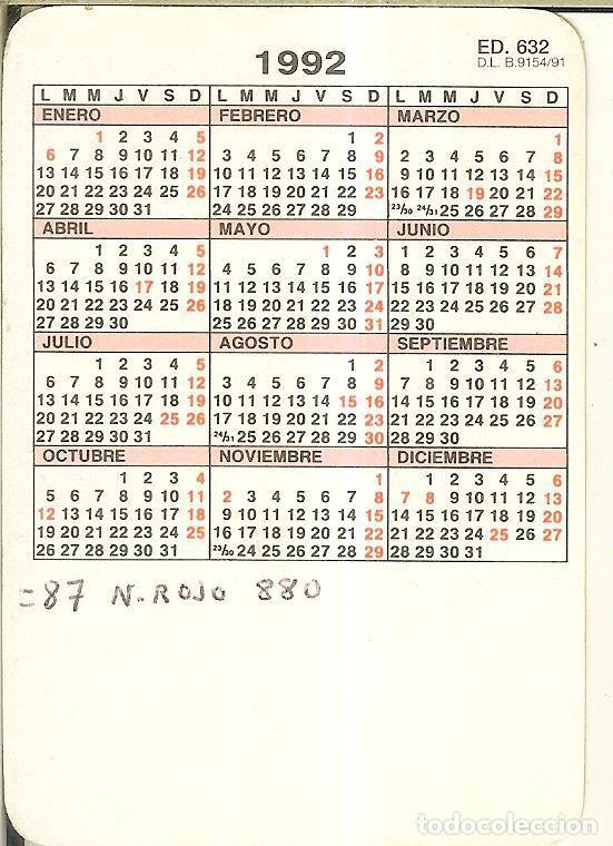 Coleccionismo Calendarios: CALENDARIO DE SERIE - 1992 - ED 632 - GATOS - Foto 2 - 253542715