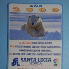 Coleccionismo Calendarios: CALENDARIO DE BOLSILLO - SANTA LUCIA - AÑO 2000. Lote 255597960