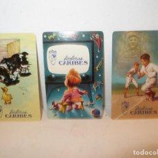 Coleccionismo Calendarios: 3 CALENDARIOS DE BOLSILLO FOSFOROS CARIBES AÑOS 1954-56 NUEVOS,BARATOS. Lote 255634790