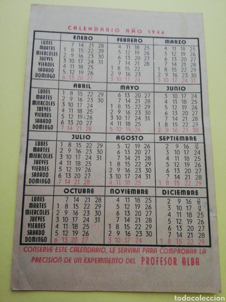 Coleccionismo Calendarios: Calendario del Profesor Alba 1946 - Foto 2 - 261621340