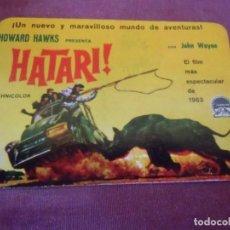 Coleccionismo Calendarios: CALENDARIO 1963.CINE.HATARI! JOHN WAYNE.. Lote 262946990