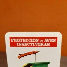 Coleccionismo Calendarios: CALENDARIO DE BOLSILLO FOURNIER PROTECCIÓN DE AVES INSECTÍVORAS (SALIDA1€). Lote 263771450